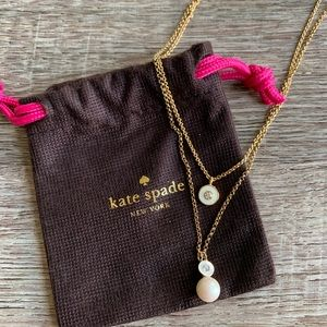Kate Spade Pearly Delight Double Pendant Necklace